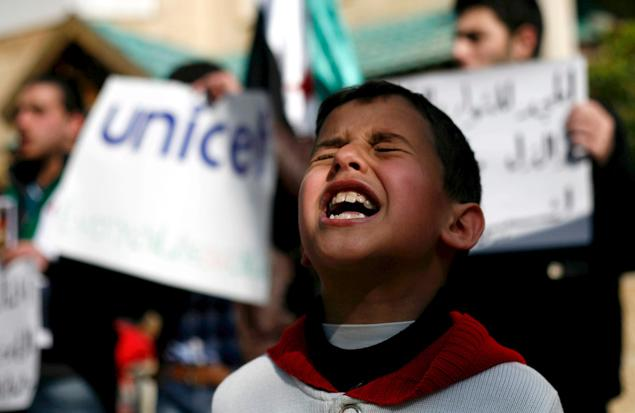 Wanted an image of a child from Syria and many of them showed dead bodies that were too disturbing. (Image from http://theglobaljournal.net/news/world/unicef-hundreds-of-children-killed-in-syria.html)